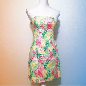 💖Lilly Pulitzer Franco Strapless Tie Back Dre